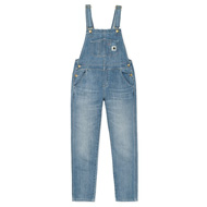 W' Bib Overall - Blue light stone washed
