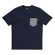 Dark N/Bark Stripe, DNvy/Wht