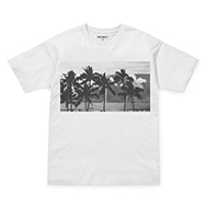 W' S/S Carrie Palmtree Pocket T-Shirt