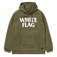 Hooded White Flag Sweatshirt