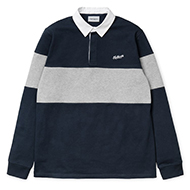 L/S Vintage Brush Rugby Polo
