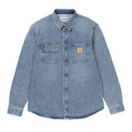 Salinac Shirt Jac - Blue light stone washed