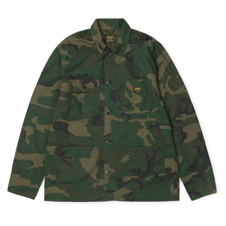Michigan Shirt Jac Camo Combat Green rinsed
