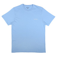 S/S Script Embriodery T-Shirt