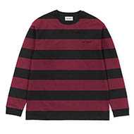 Stripe, Black / Mulberry