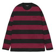 Stripe, Black/Mulberry