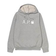 A.P.C x Carhartt WIP Stash Hoodie Grey