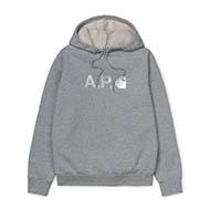 A.P.C x Carhartt WIP - W' Stash Hoodie Grey