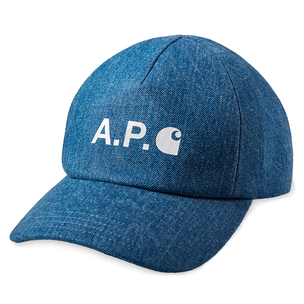 A.P.C x Carhartt WIP Cameron Cap Indigo