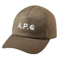 A.P.C x Carhartt WIP Cameron Cap Khaki