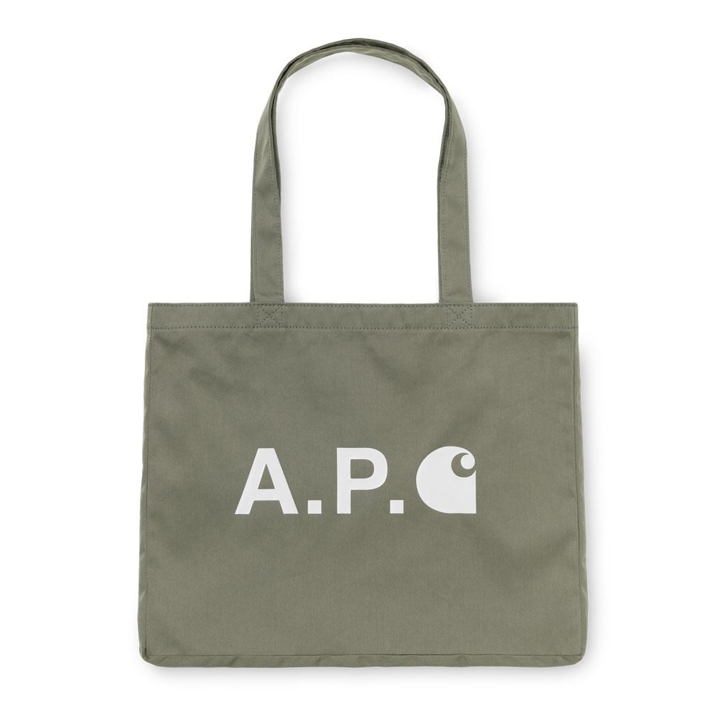 A.P.C x Carhartt WIP Alan Shop Tote Khaki