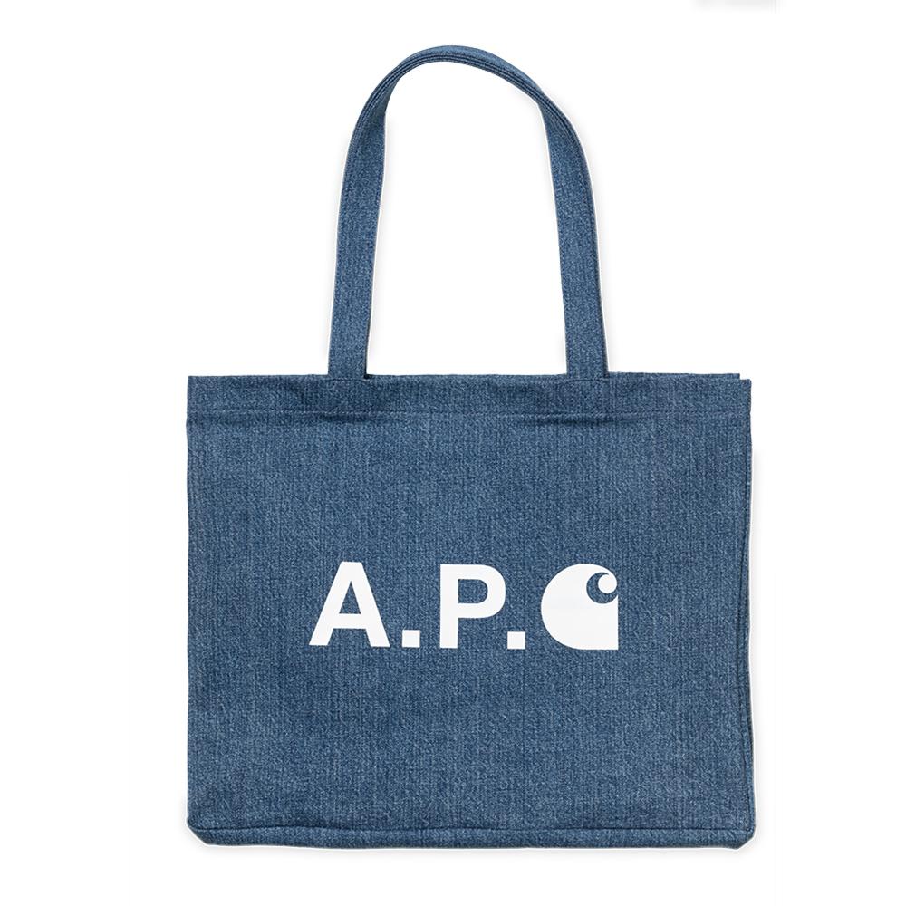 A.P.C x Carhartt WIP Alan Shop Tote Indigo