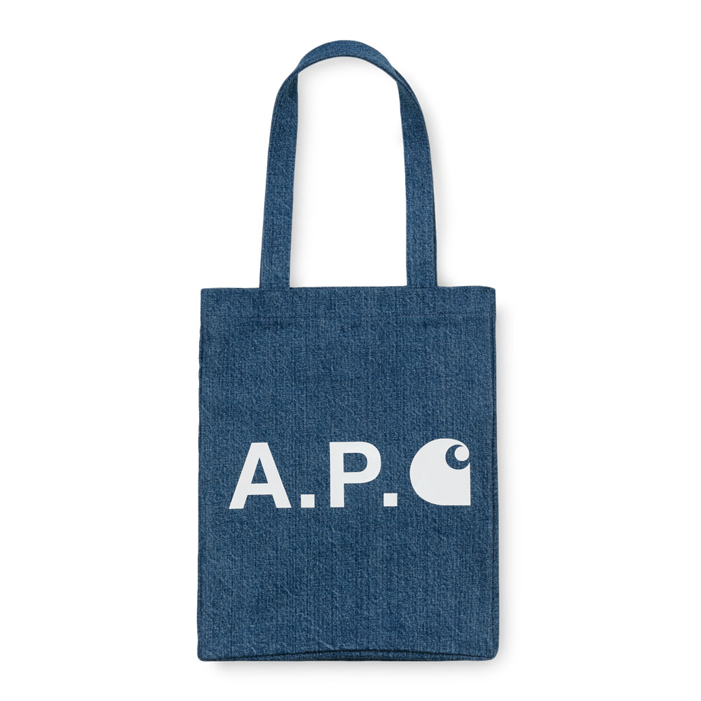 A.P.C x Carhartt WIP Alan Tote Indigo