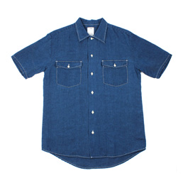VISVIM S/S Rust Belt Chambray Navy
