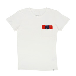 Visvim Crochet Bar Pocket Tee S/S White