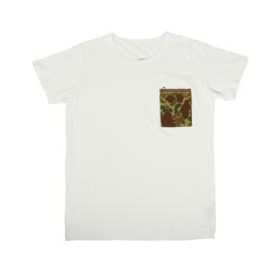 Visvim Pocket Tee S/S Camo - White