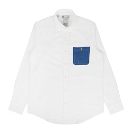 VISVIM V+V B.D Pocket L/S Giza Ox Shirt Blue