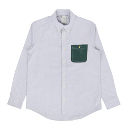 VISVIM V+V B.D Pocket L/S Giza Ox Shirt Green