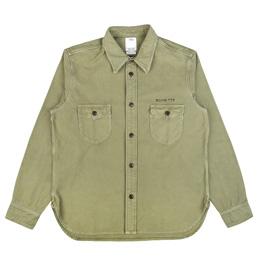 VISVIM U.S.M Numbering L/S Shirt Olive