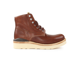 VISVIM Virgil Boots Folk Dark Brown
