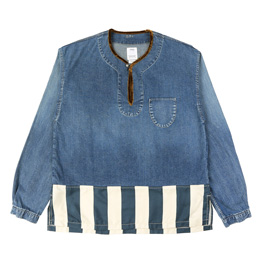 VISVIM Border Tunic P.O Damaged Indigo