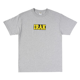IRAK Logo Tee Heather Grey