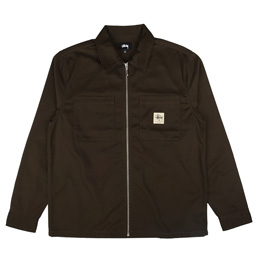 Stussy Zip Up Work LS Shirt