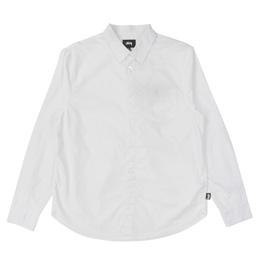 Stussy Classic Hidden Button LS Shirt - White