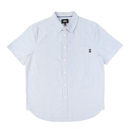 Stussy Frank Oxford SS Shirt - Blue