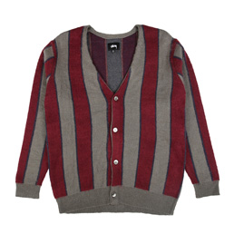 Stussy Vertical Stripe Cardigan