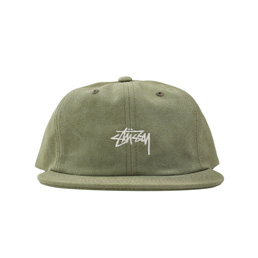 Stussy Stock Washed Canvas Cap - Olive