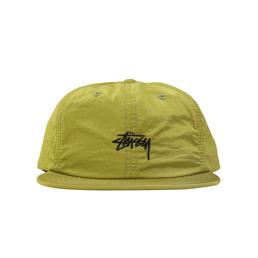 Stussy Stock Nylon Strapback Cap - Lime
