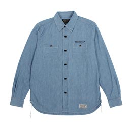 Wacko Maria Chambray Work Shirt Light Blue