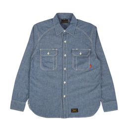 WTAPS Cell L/S Chambray Shirt Indigo