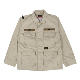 WTAPS Jungle L/S Shirt Coffee Stain