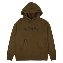 WTAPS Design Hooded Loopwheel Sweatshirt Olive