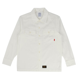 WTAPS Officer LS Shirt White