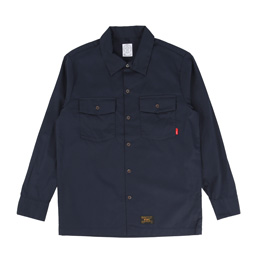 WTAPS Officer LS Shirt Navy