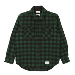 Wacko Maria Small Buffalo Check Shirt Green