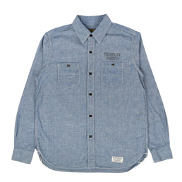Wacko Maria Classic Chambray Work Shirt Blue
