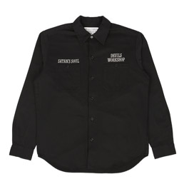 Wacko Maria Twill Work Shirt Type 1 Black