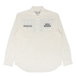 Wacko Maria Twill Work Shirt Type 2 White