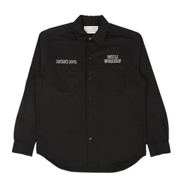 Wacko Maria Twill Work Shirt Type 2 Black