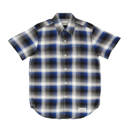 Wacko Maria Ombre Check Shirt Blue