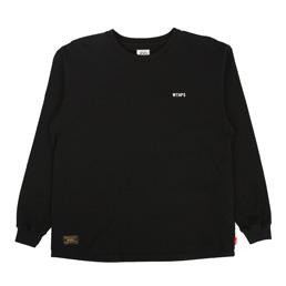 WTAPS Design LS GPS T-Shirt Loopwheel Black