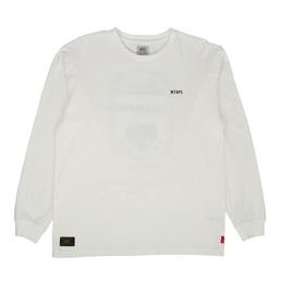 WTAPS Design L/S Heraldry T-Shirt White