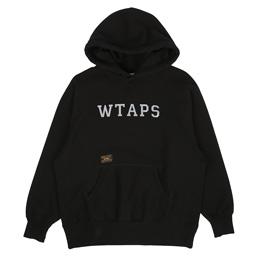 WTAPS Design Hooded College Sweatshirt Black