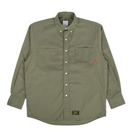 WTAPS BD LS Shirt Garbadine Olive Drab