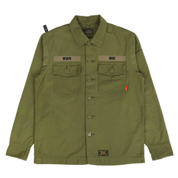 WTAPS Buds LS Shirt Olive Drab