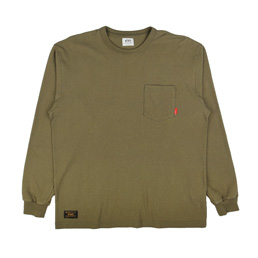 WTAPS Design LS Loopwheel T-Shirt Olive